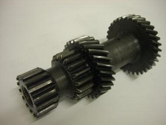 Helical and spur gears on shaft - view 2