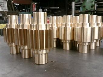 Phosphor bronze spur gears